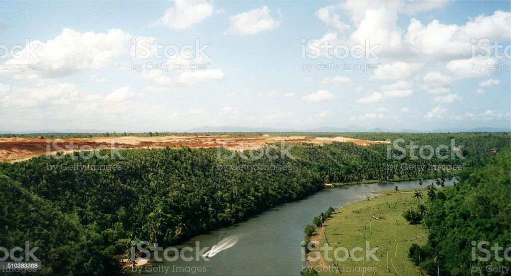 Chavon river, Dominican Republic stock photo