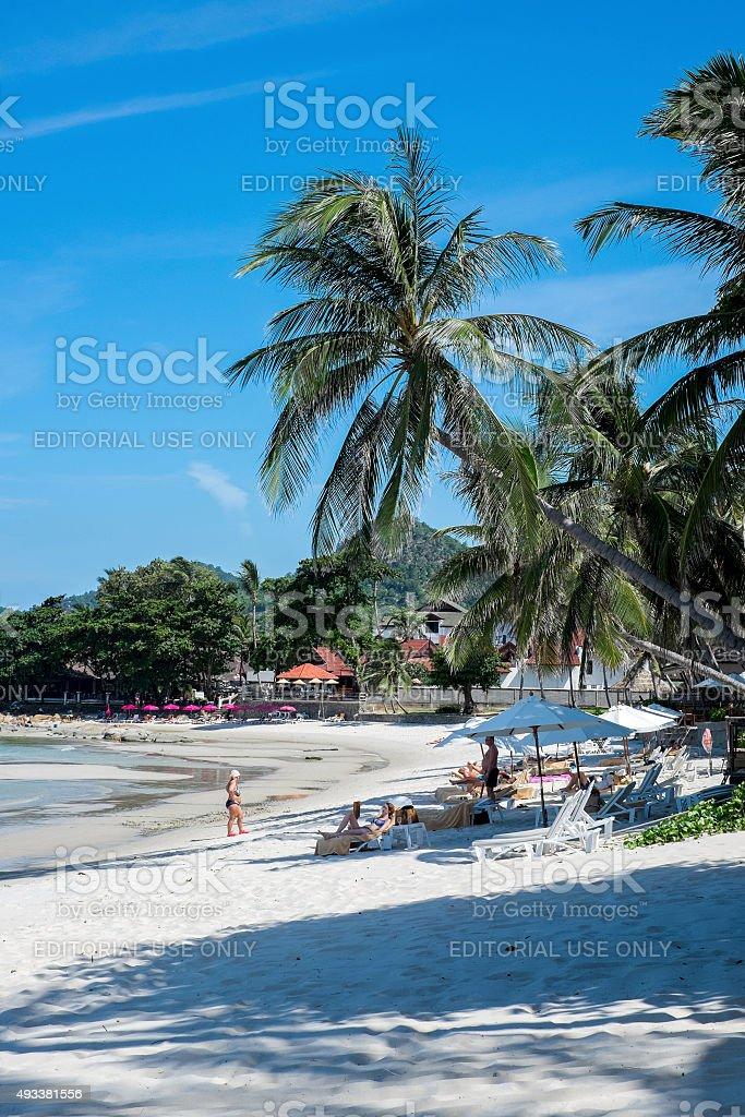 Chaweng beach landscape stock photo