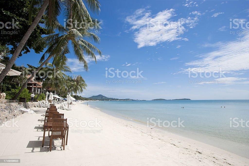 Chaweng Beach on Ko Samui stock photo