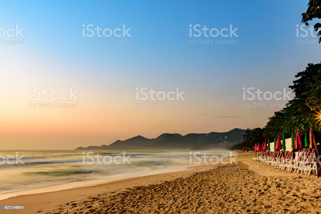 ChawengBeach seaside landscape in Samui Island, southern of Thailand. stock photo