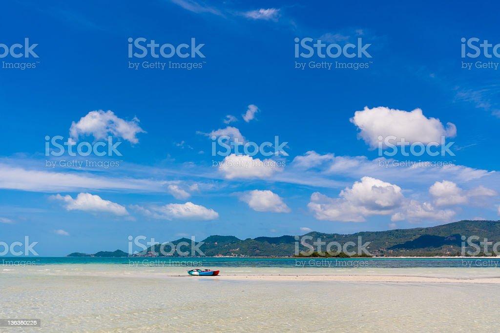 Chaweng's white sand beach on Koh Samui island in Thailand stock photo