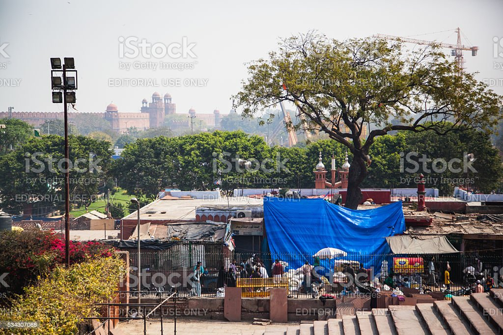 Chawri Bazar stock photo