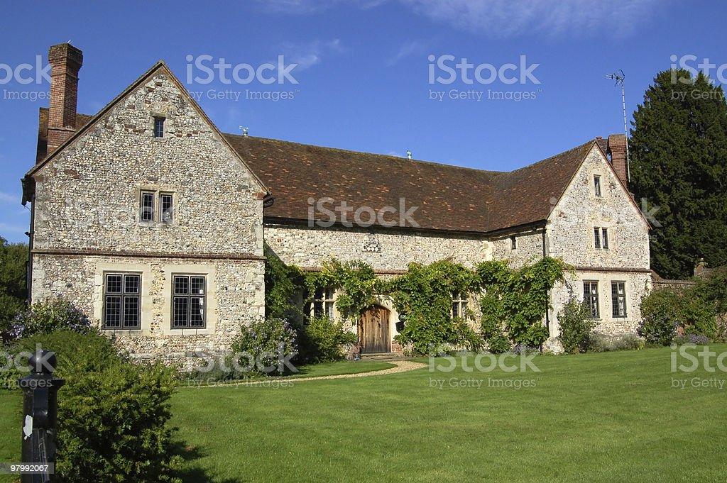 Chawton House cottage stock photo
