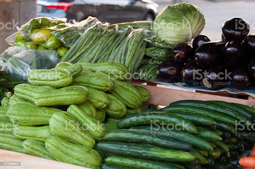 Chayote and Cucumber stock photo