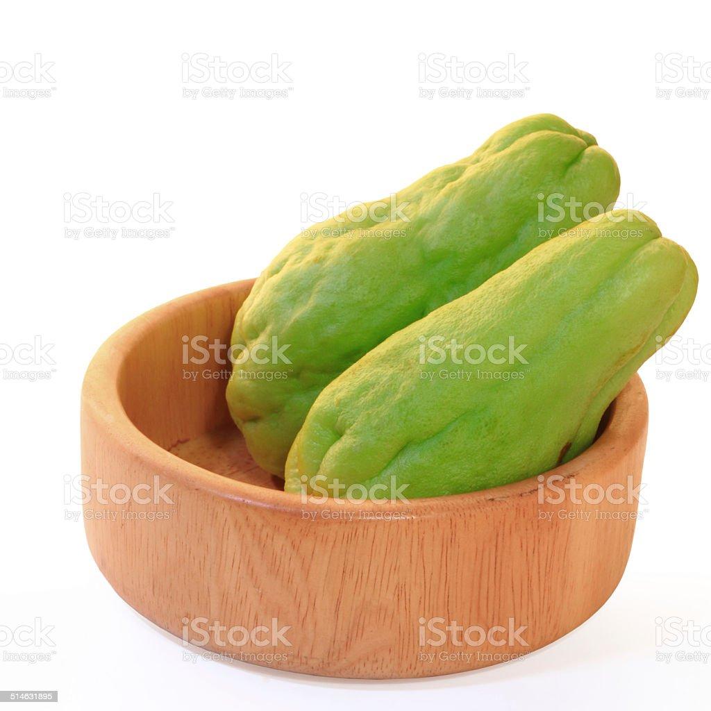chayote squash, also known as choko stock photo