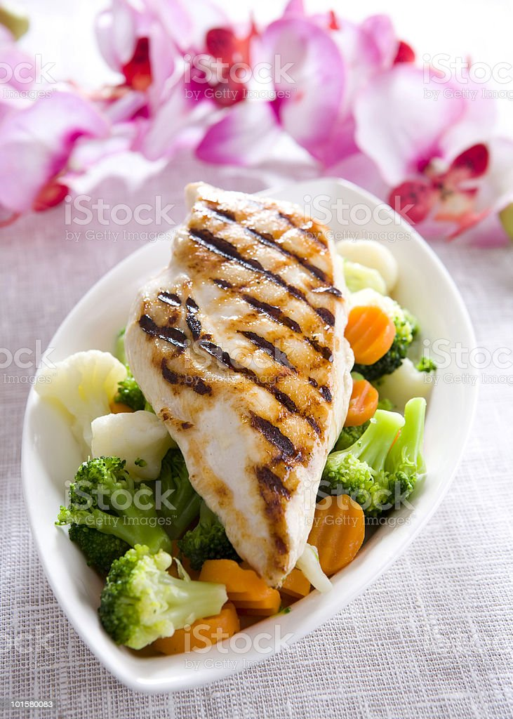 chcicken meal royalty-free stock photo