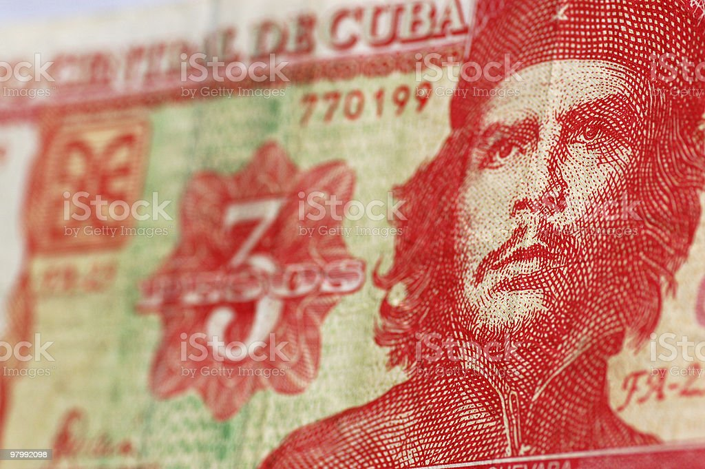 Che Guevara Cuba banknote royalty-free stock photo