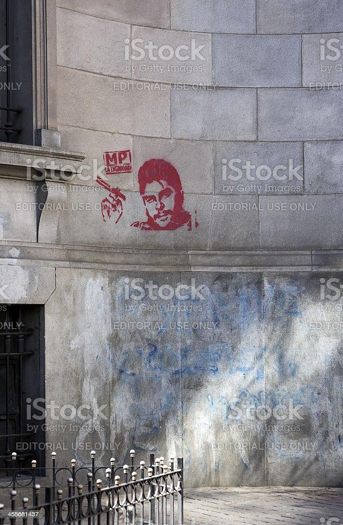 Che Guevara graffiti royalty-free stock photo
