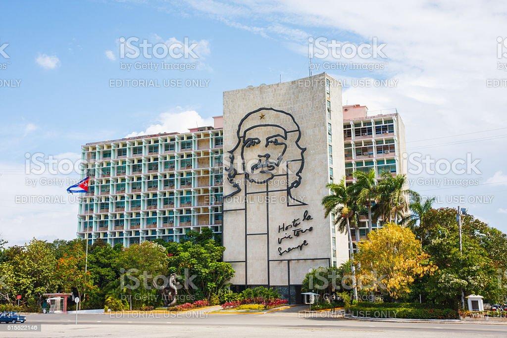 Che Guevara Mural in Havana, Cuba stock photo