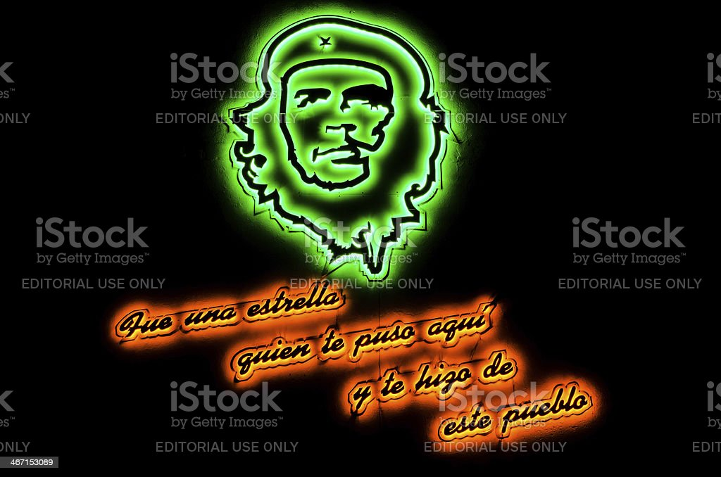 Che Guevara Wall Sign royalty-free stock photo