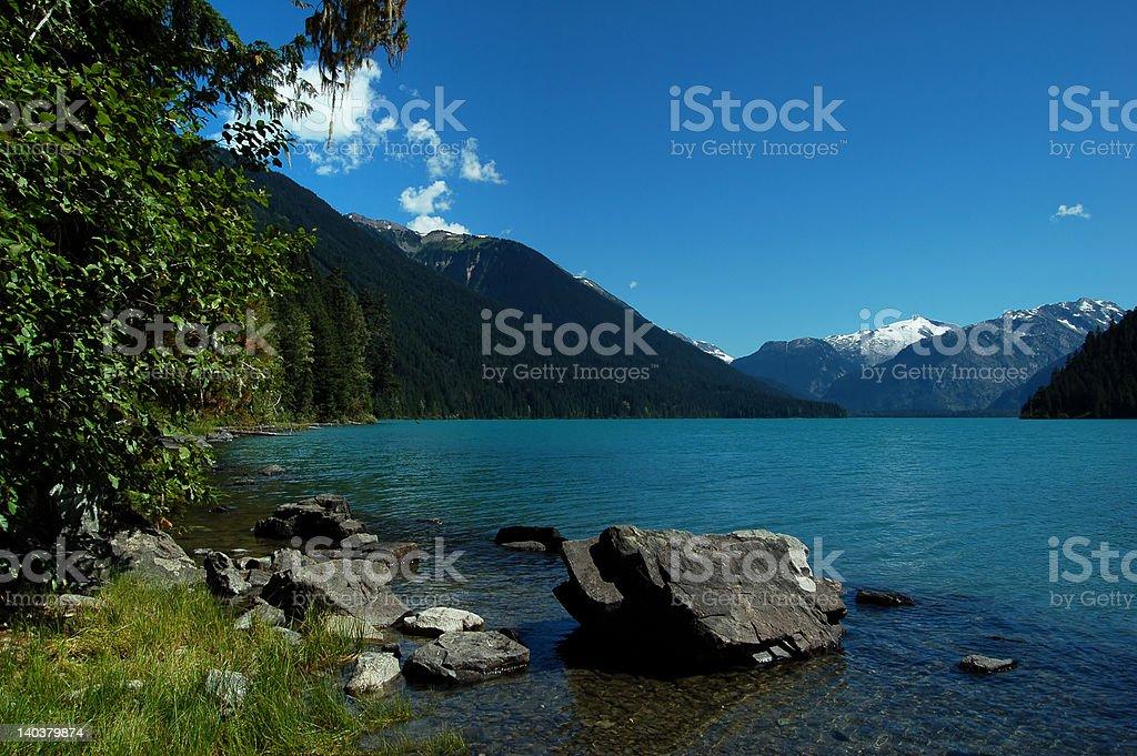 cheakamus lake, garibaldi provincial park royalty-free stock photo