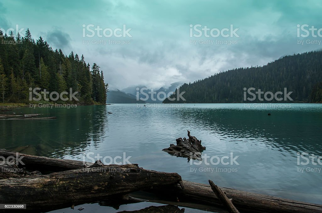 Cheakamus Lake in Canada stock photo