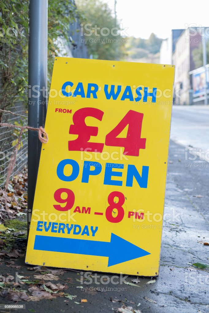 Cheap car hand wash sign board on path in rural town stock photo cheap car hand wash sign board on path in rural town royalty free stock photo solutioingenieria Choice Image