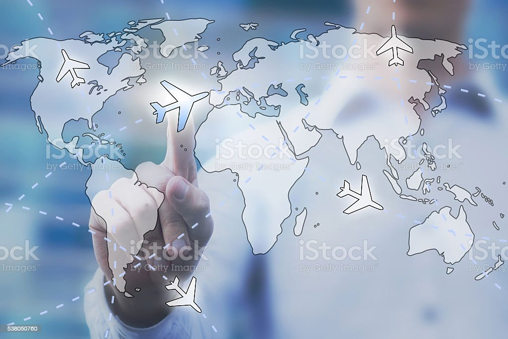 cheap flight tickets concept stock photo