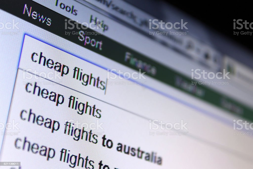 Cheap Flights stock photo