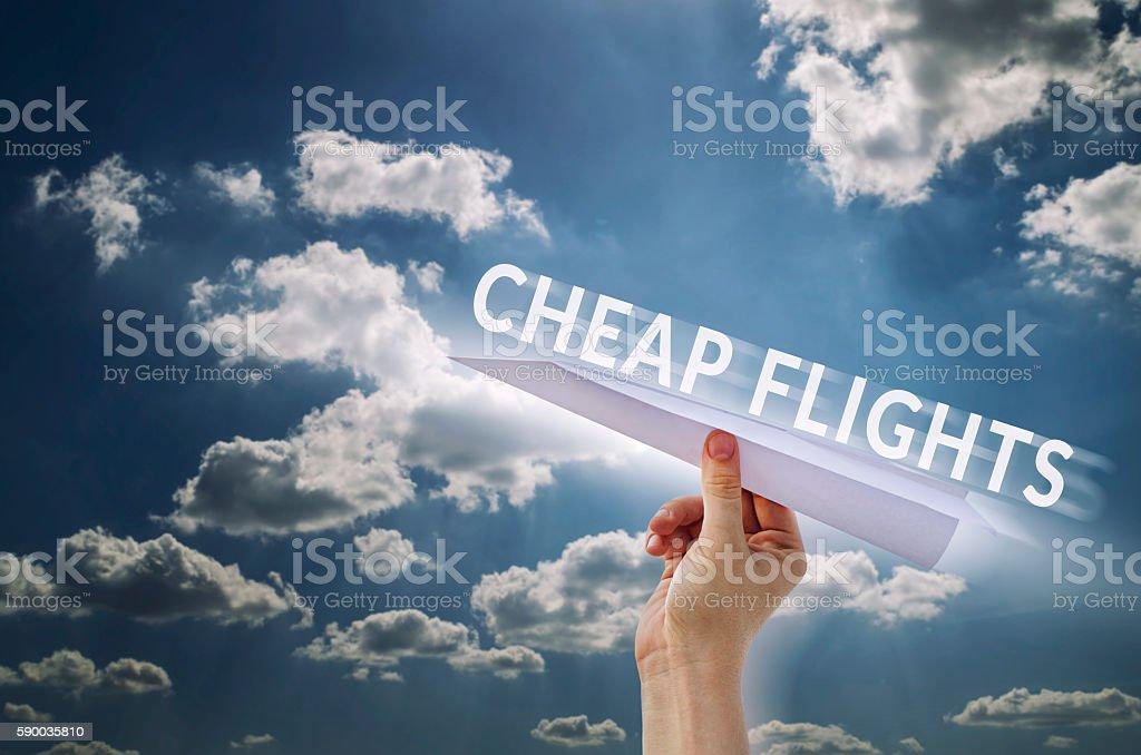Cheap flights stock photo