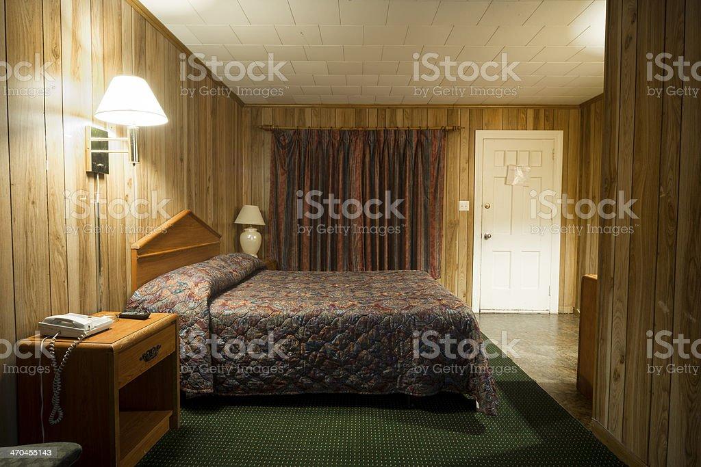 Tanie motel Pokój łóżko - Zbiór zdjęć royalty-free (Bez ludzi)
