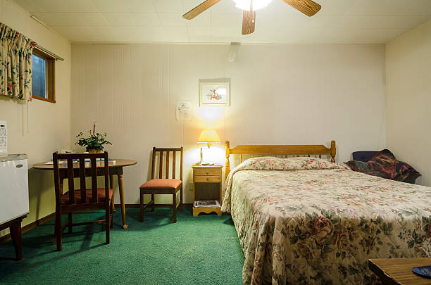 Cheap motel room stok fotoğrafı