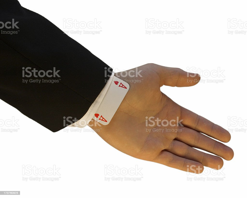 Cheaters sleeve royalty-free stock photo