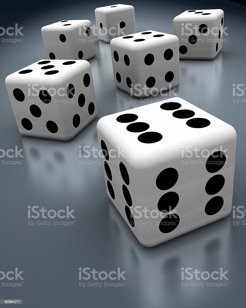 Cheating Dices stock photo