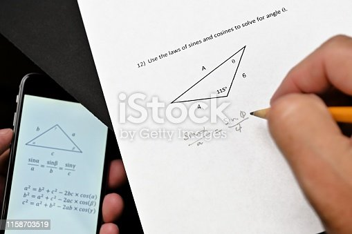 istock Cheating on Trigonometry Test 1158703519