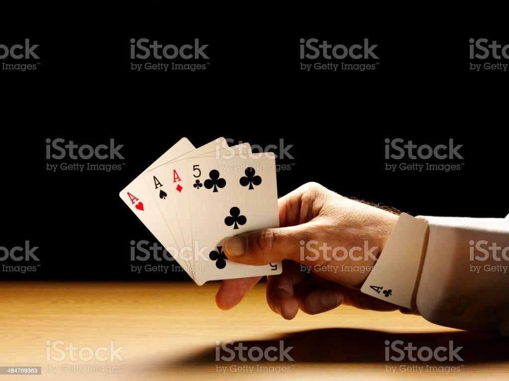 Tricherie avec un paquet de cartes - Photo