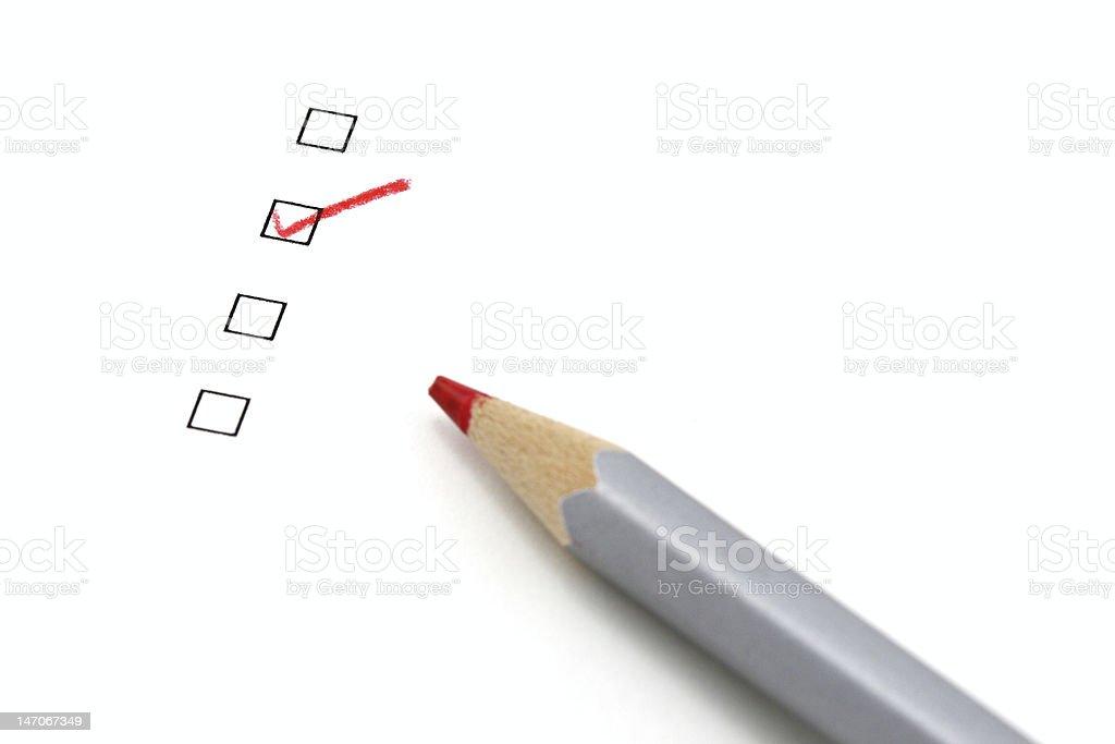 check box and pencil royalty-free stock photo