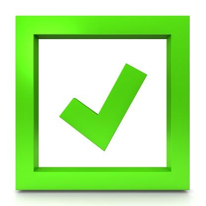 Kästchen Häkchen Symbolhaken Zeichen Tally Ok Symbol Grün 3d Rendering  Grafik Isoliert Auf Weißem Hintergrund Stockfoto und mehr Bilder von  Anweisungen - Konzepte - iStock