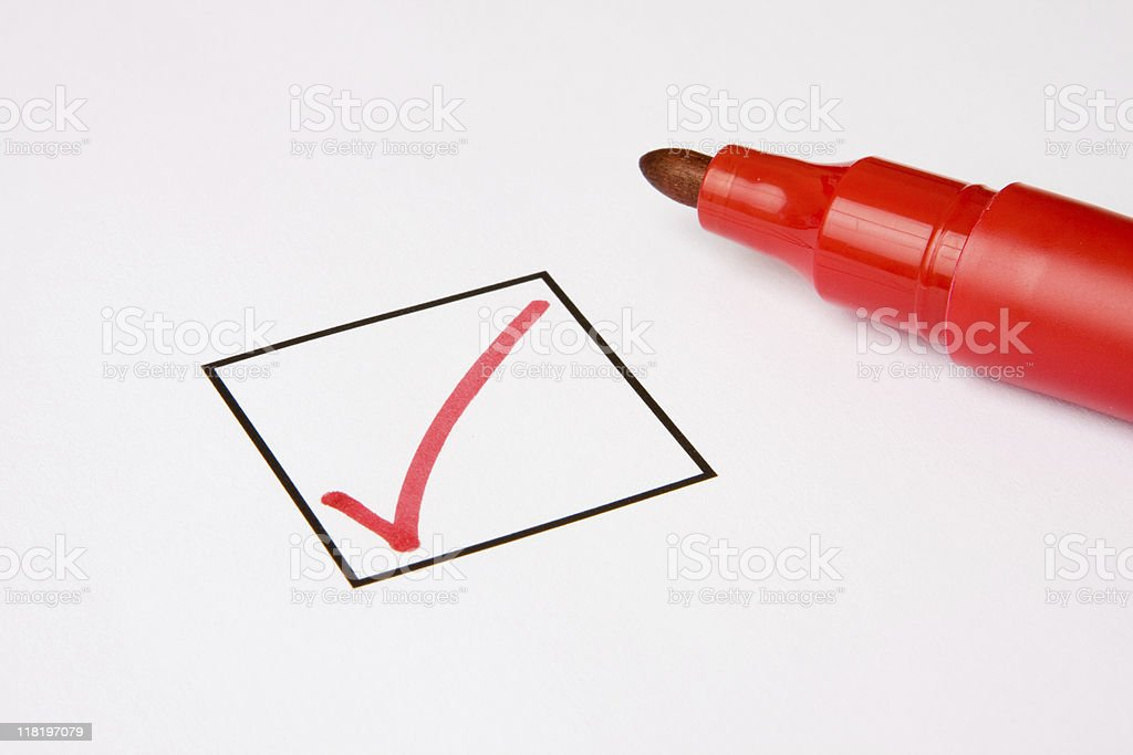Check Box with Tick royalty-free stock photo
