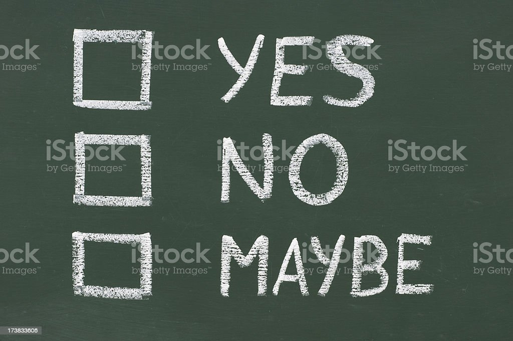 check boxes on a blackboard royalty-free stock photo