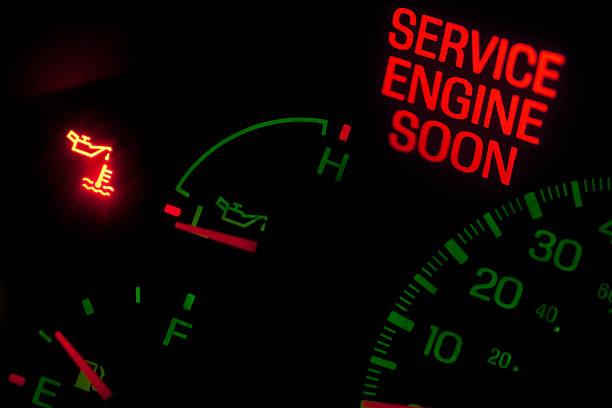 Check engine light stock photo