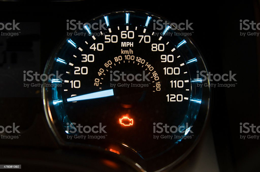Check engine light stock photo