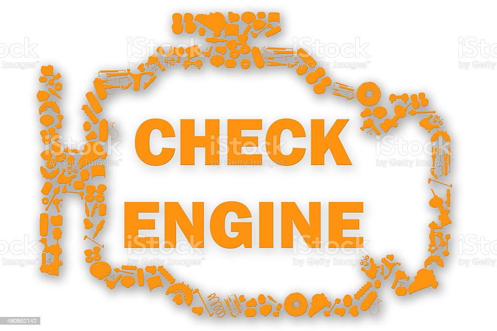 Check Engine Light Symbol When Something Goes Wrong With The Stock