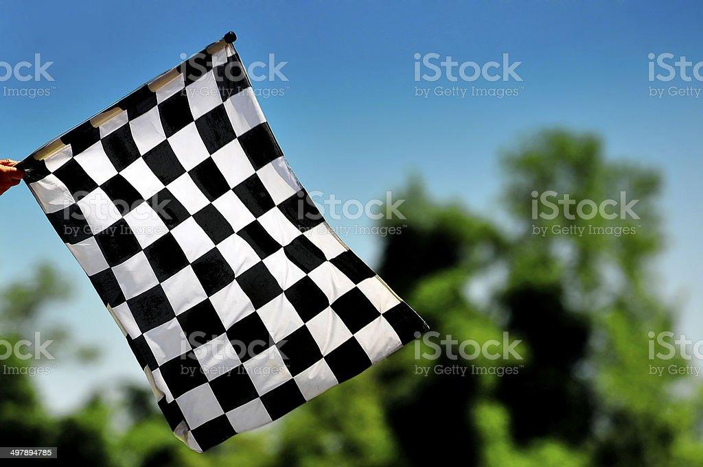Check Flag stock photo