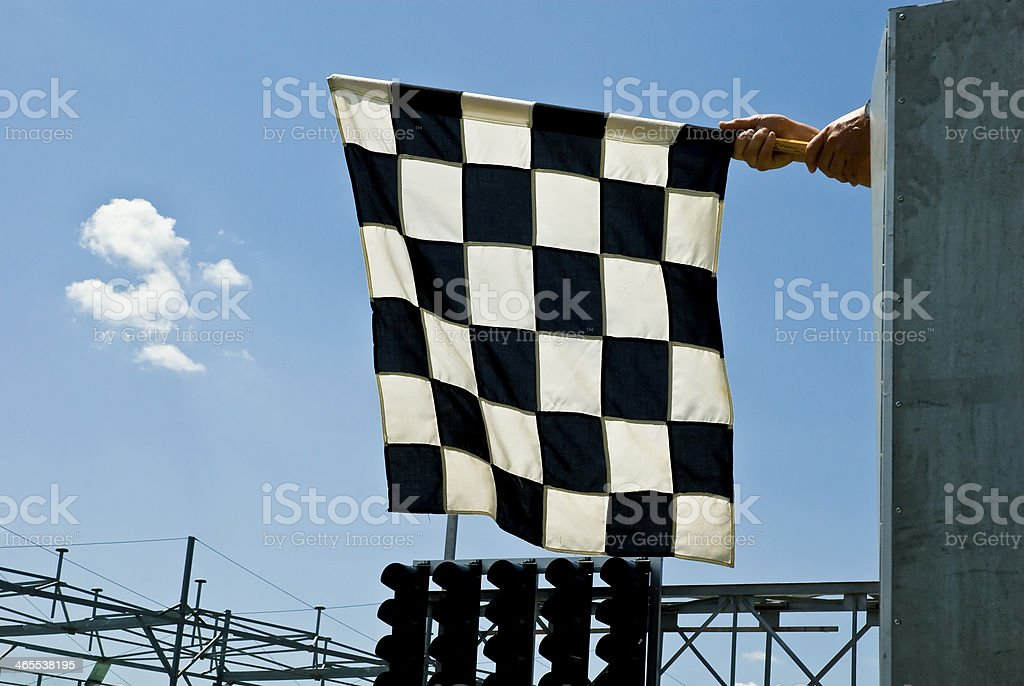 Check Flag ready for waving stock photo