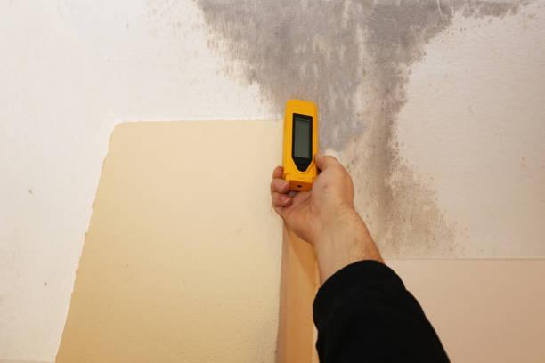 Überprüfung auf Feuchtigkeit im inneren Wand – Foto