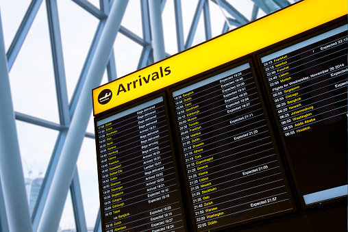 Check In Airport Departure Arrival Information Board Sign Stock Photo Download Image Now Istock