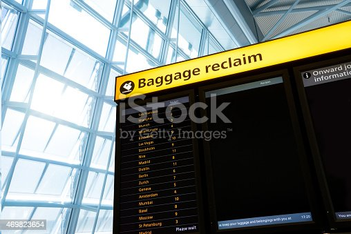 469824732istockphoto Check in, Airport Departure & Arrival information board sign 469823654