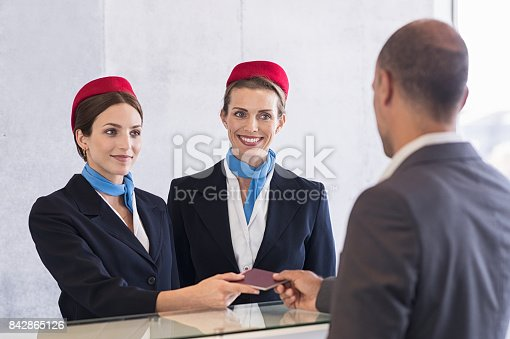 istock Check in at airport 842865126
