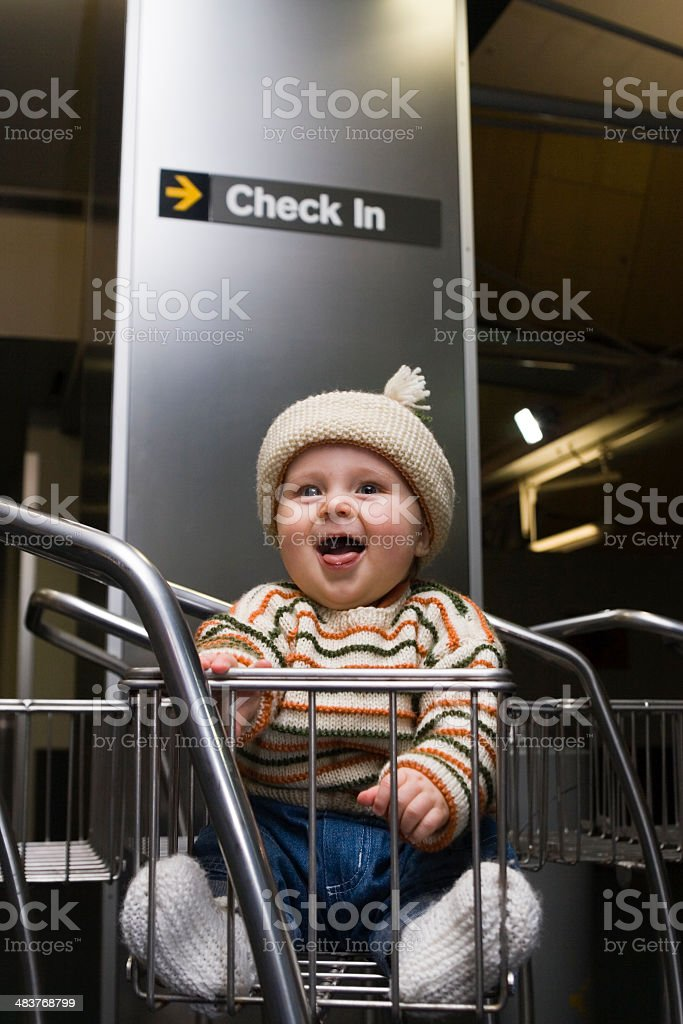 Check in baby royalty-free stock photo