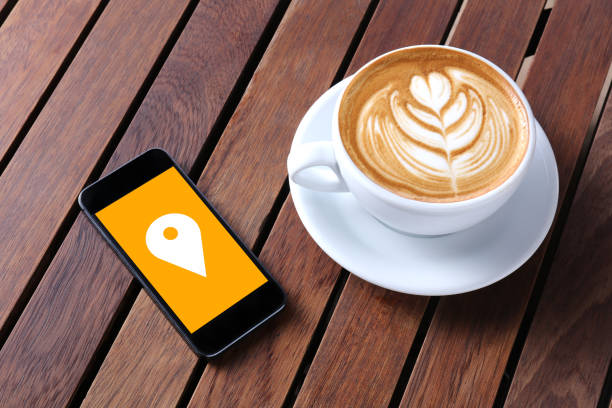 check-in schaltfläche - www kaffee oder tee stock-fotos und bilder