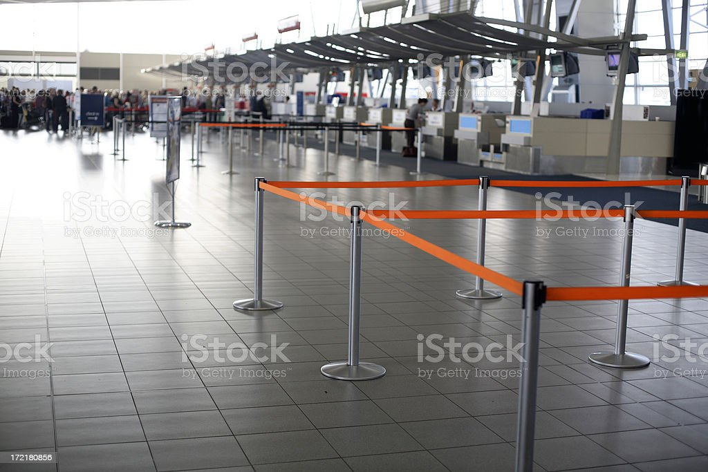 Check In Line royalty-free stock photo