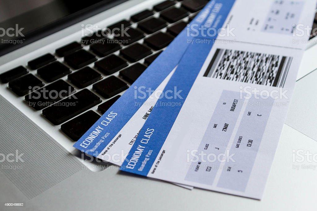 El Check-in en línea - foto de stock