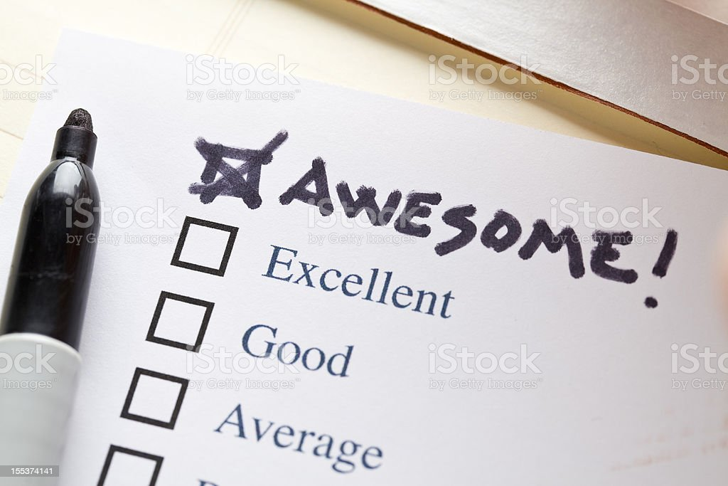 Check List  Awesome stock photo
