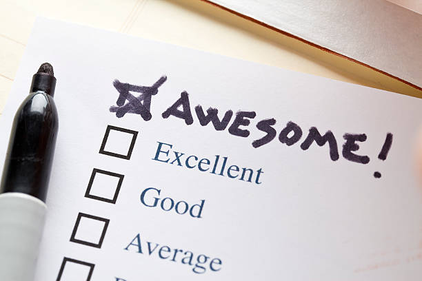 check list  awesome - testimonial stock photos and pictures