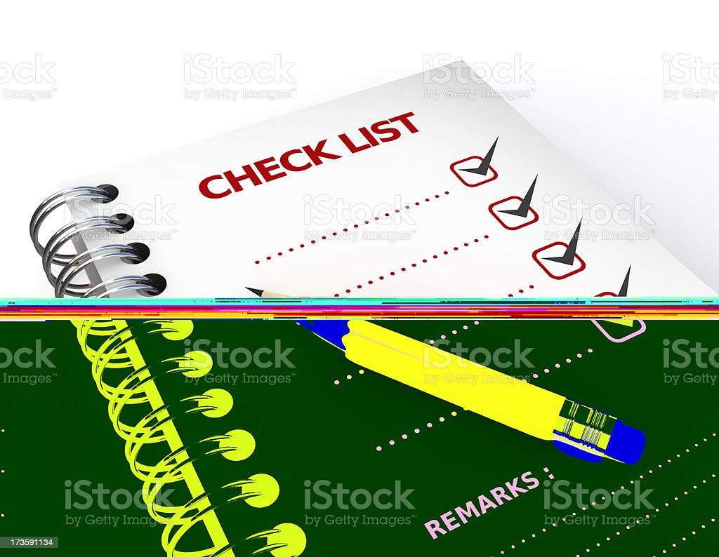 Check list Closeup royalty-free stock photo