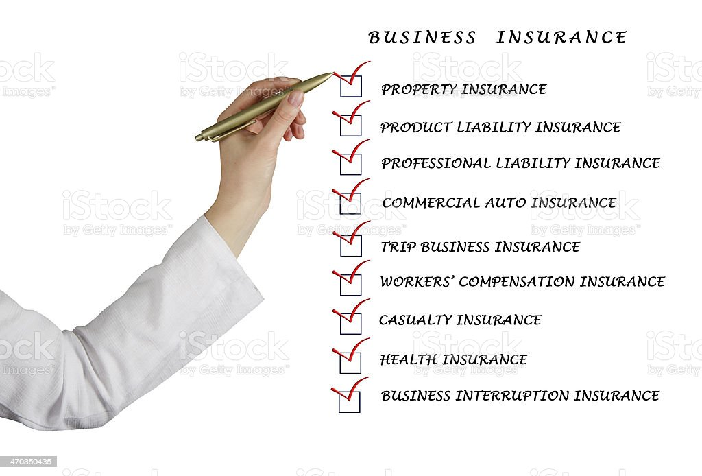 Check list for business insurance stock photo