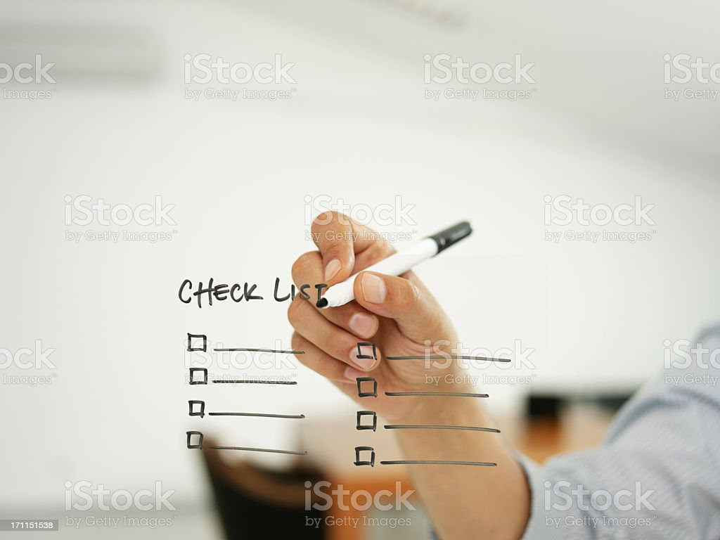 check list stock photo