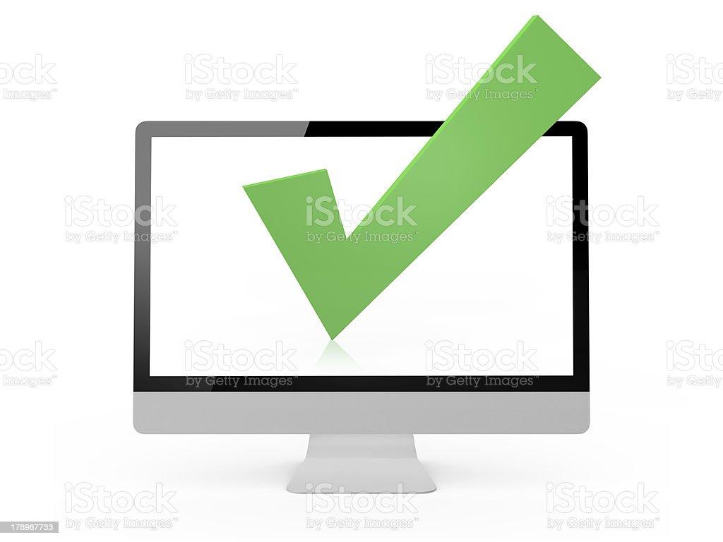 Check Mark and Monitor royalty-free stock photo