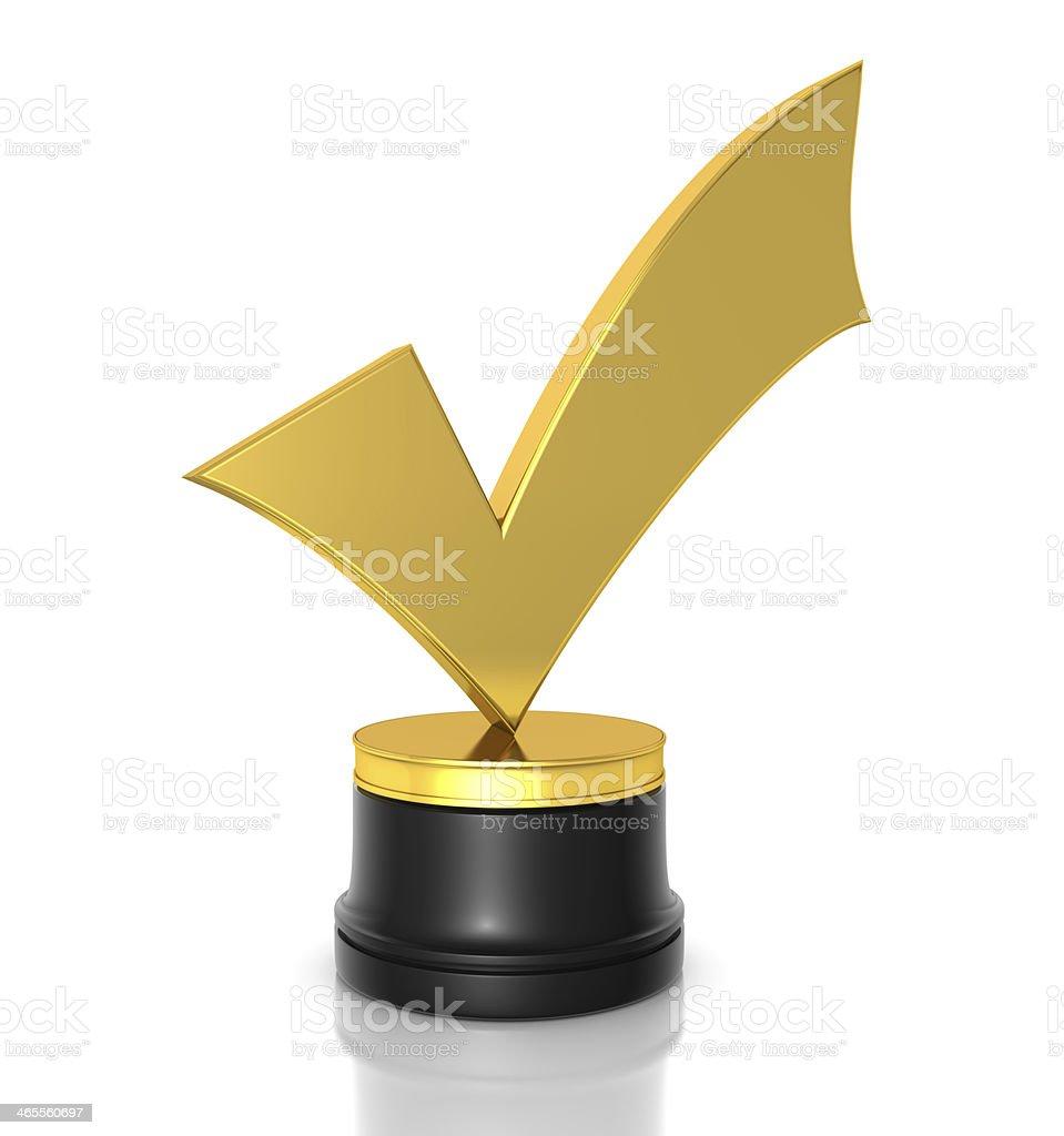 Check Mark Award stock photo